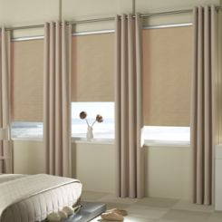 Reminiscent Vinyl Blackout Roller Shades
