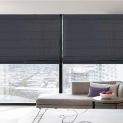 Blackout Fabric Roman Shades